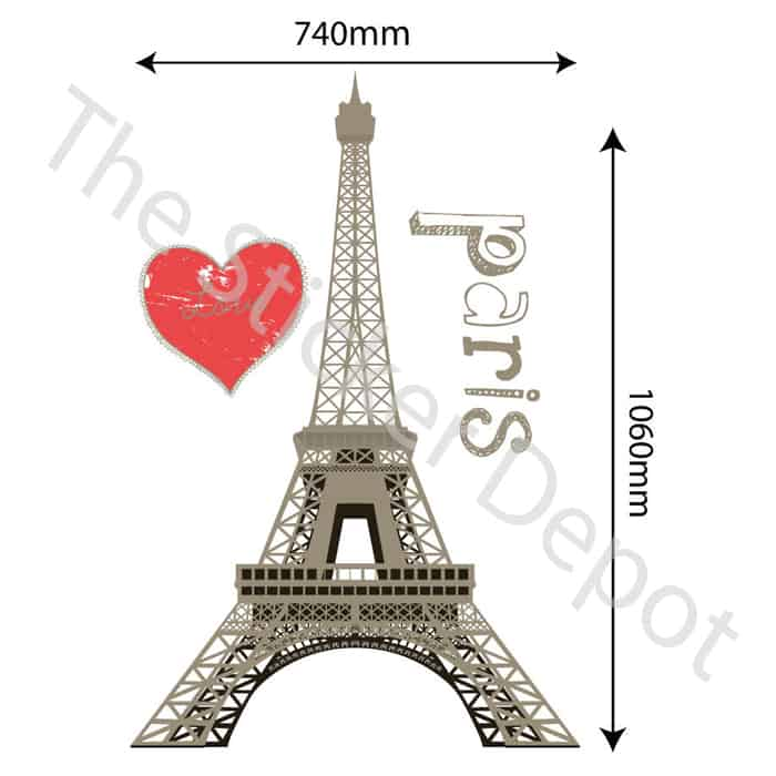 eiffel tower paris wall safe movable wall sticker decals and stickers by heartland decals artfire com