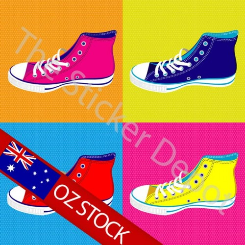 pop art sneakers wall safe movable wall sticker pop art woman wall stickers totally movable buy now