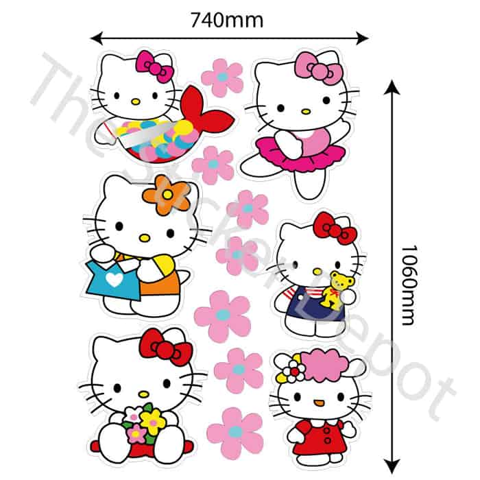 hello kitty wall safe movable wall sticker stickerdepot