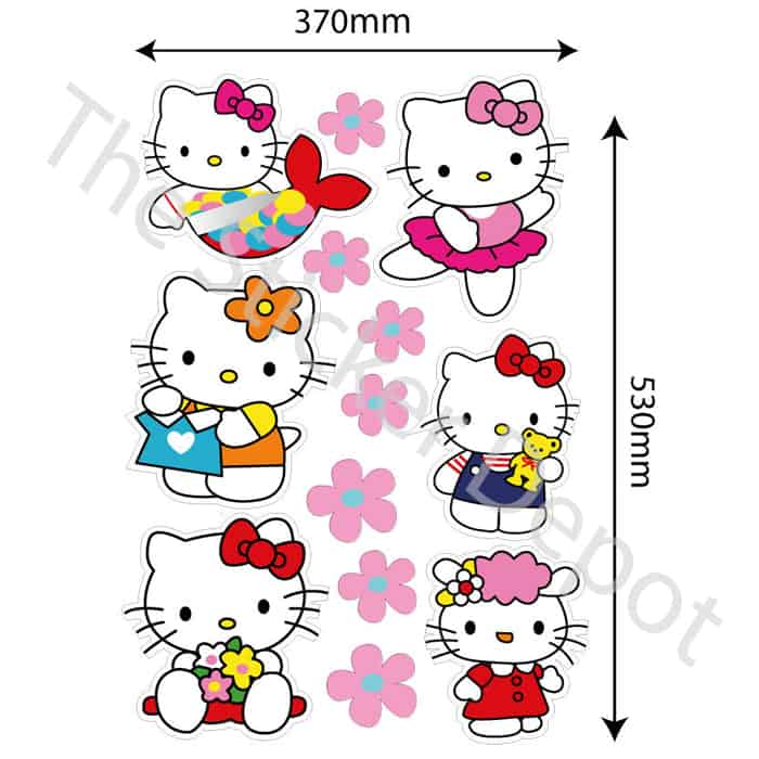 Hello Kitty Wall Safe MOVABLE Wall Sticker - stickerdepot.com.au