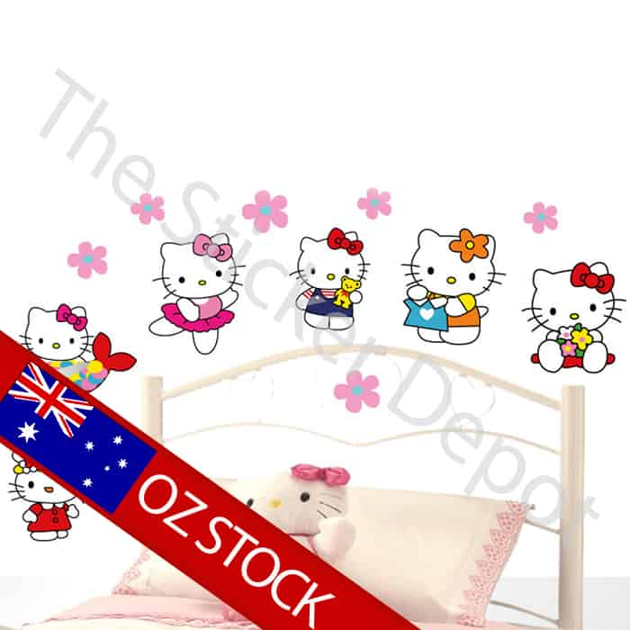 ... Wall Stickers , Wall Safe Movable Wall Stickers / Hello Kitty Wall