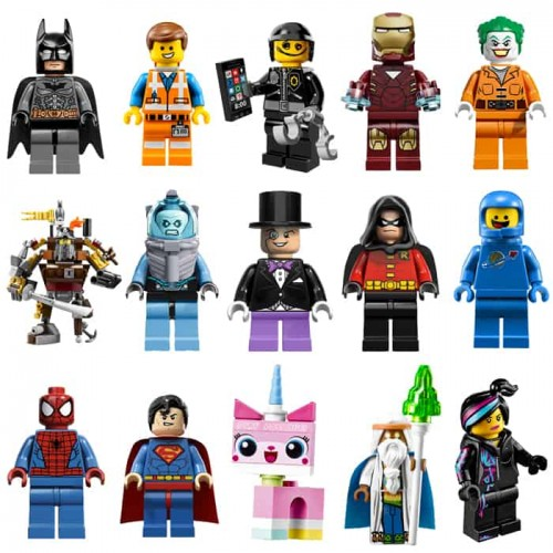 Lego Minifigures Character Stickers