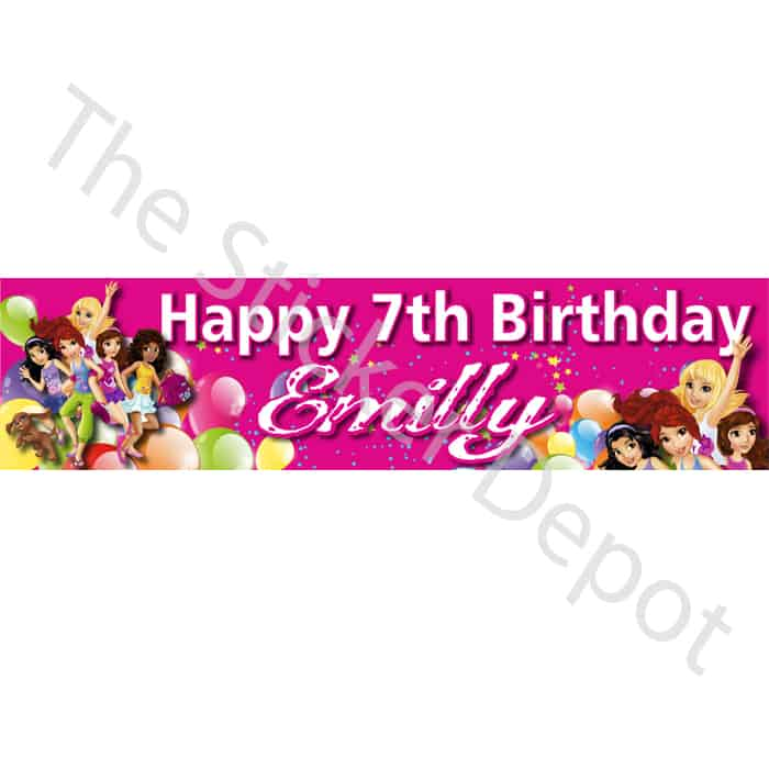 Lego Friends Personalised Birthday Banner - Add your name and age ...