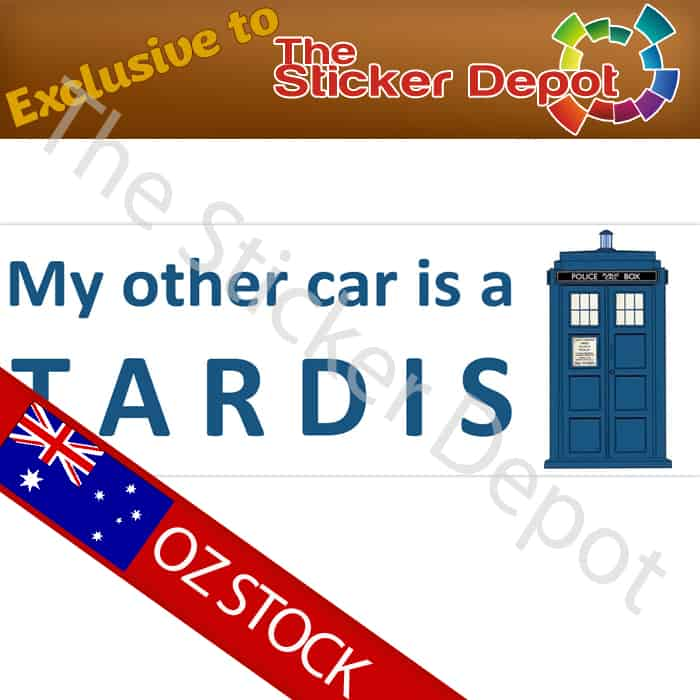 Doctor who my other car is a tardis bumper sticker