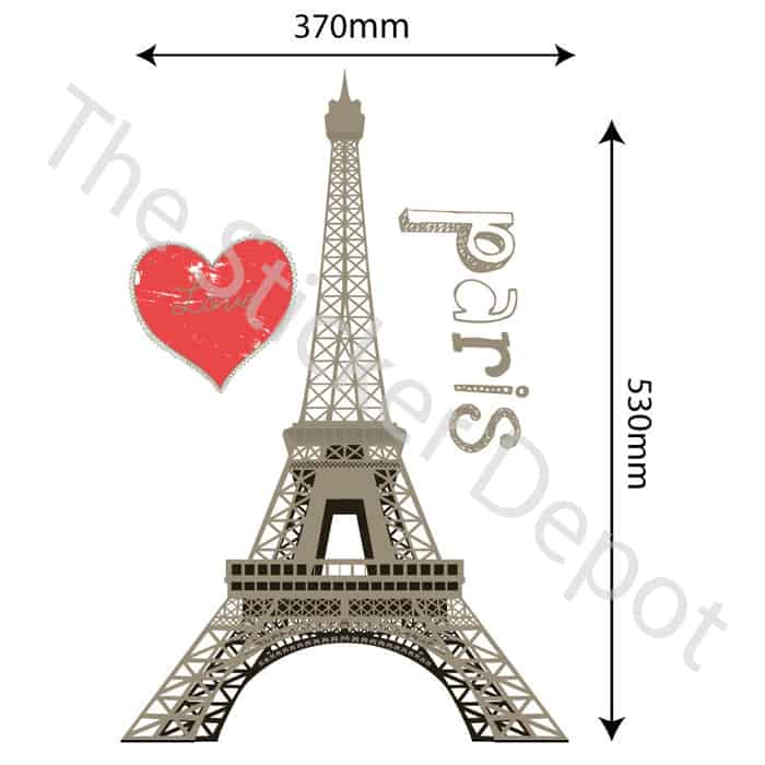 eiffel tower paris wall safe movable wall sticker