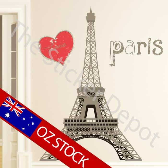eiffel tower paris wall safe movable wall sticker eiffel tower 2 wall sticker wall art com