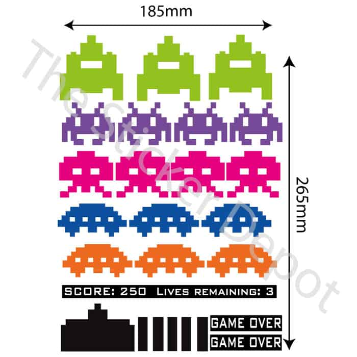 space invaders wall safe movable wall sticker 25 best ideas about office wall decals on pinterest