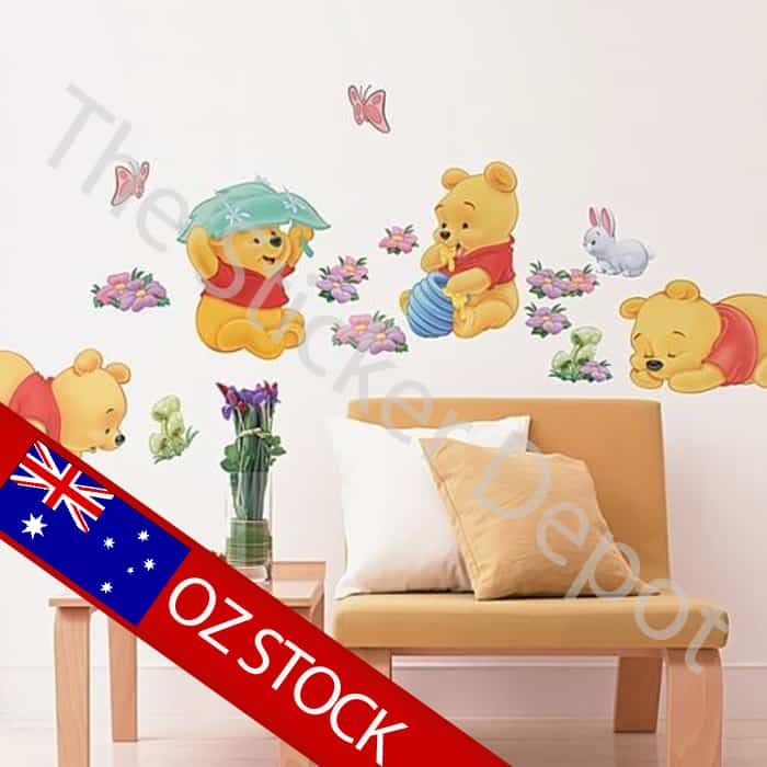 winnie the pooh removable vinyl wall sticker winnie the pooh wall decals nursery classic winnie the pooh