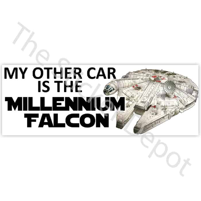 My other car is the millenium falcon bumper sticker