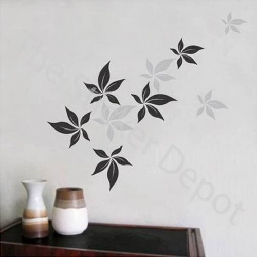 9 Maple Leaves Wall Sticker