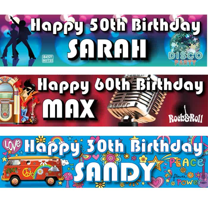 Adult Birthday Banners