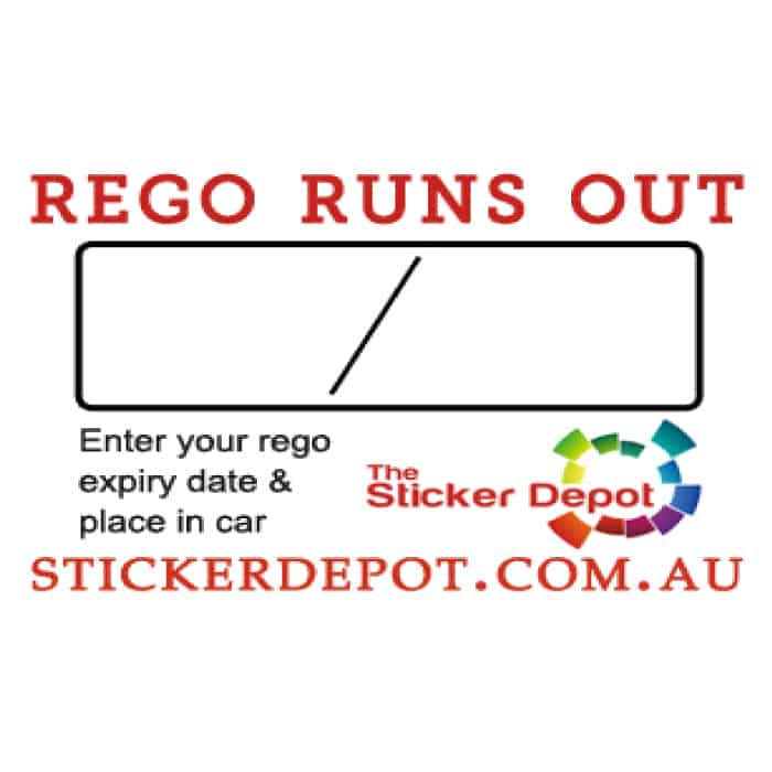 Car Registration Reminder Sticker
