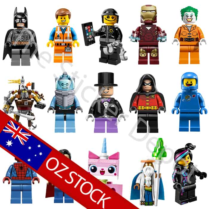 Complete Set Lego Minifigures Character Wall Safe Movable Stickers