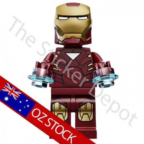 Iron Man Lego Minifigures Sticker