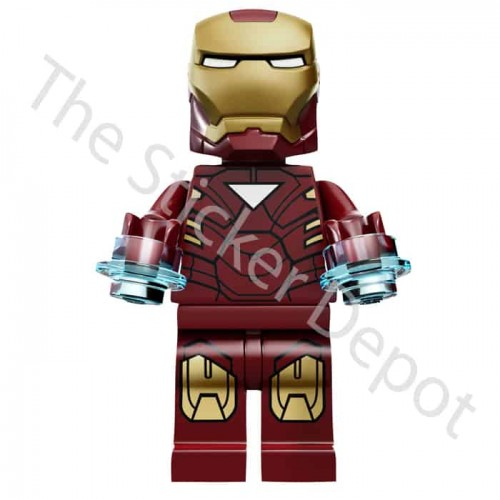 Iron Man Lego Minifigfures Sticker