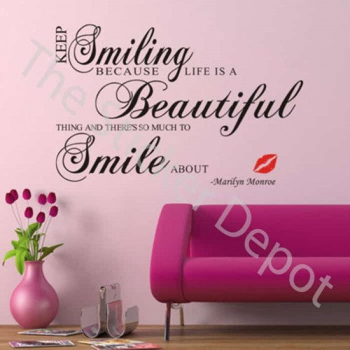 Keep Smiling Wall Sticker