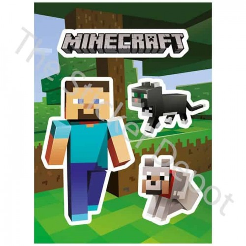 Minecraft Steve And Pets