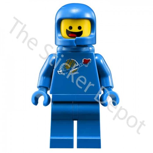 Spaceman Benny Lego Minifigures Sticker