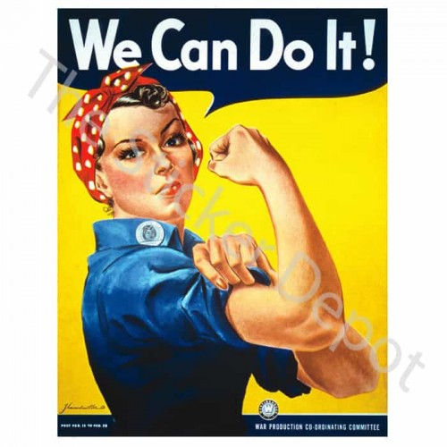 Vintage We Can Do It Rosie the Riveter Wall Sticker