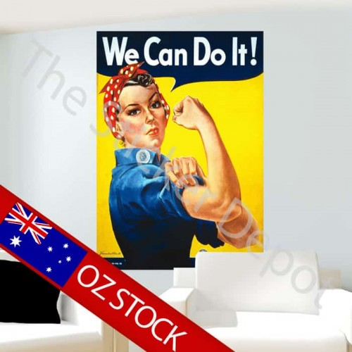 We Can Do It Rosie the Riveter Wall Sticker
