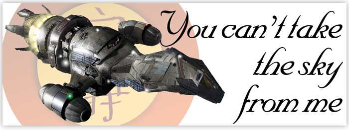 Firefly You Can't Take The Sky From Me Bumper Sticker