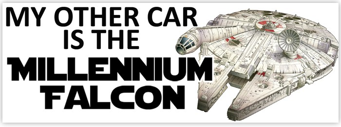 My Other Car is the Millennium Falcon – Bumper Sticker