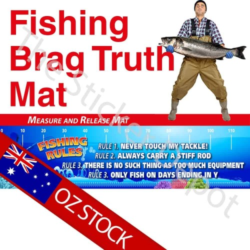 Fishing Rules Brag Truth Measure Mat