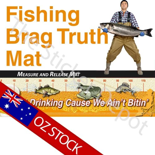 Fishing Start Drinking Brag Truth Measure Mat