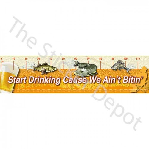 Fishing Start Drinking Truth Brag Measure Mat