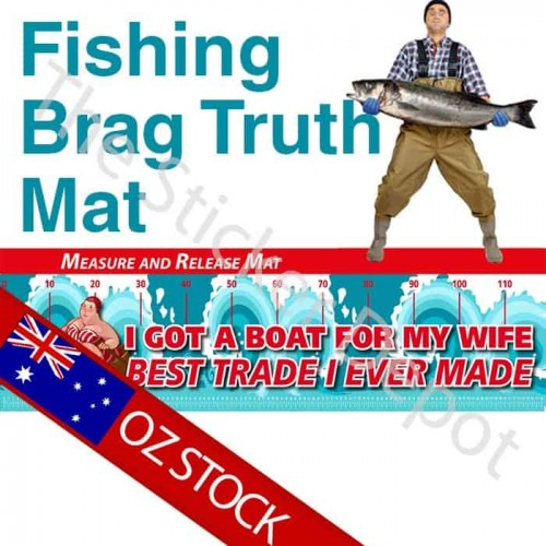 Fishing Wife Swap Brag Truth Measure Mat