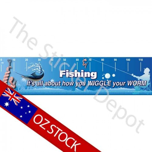 Fishing Wiggle Worm Brag Truth Measure Mat